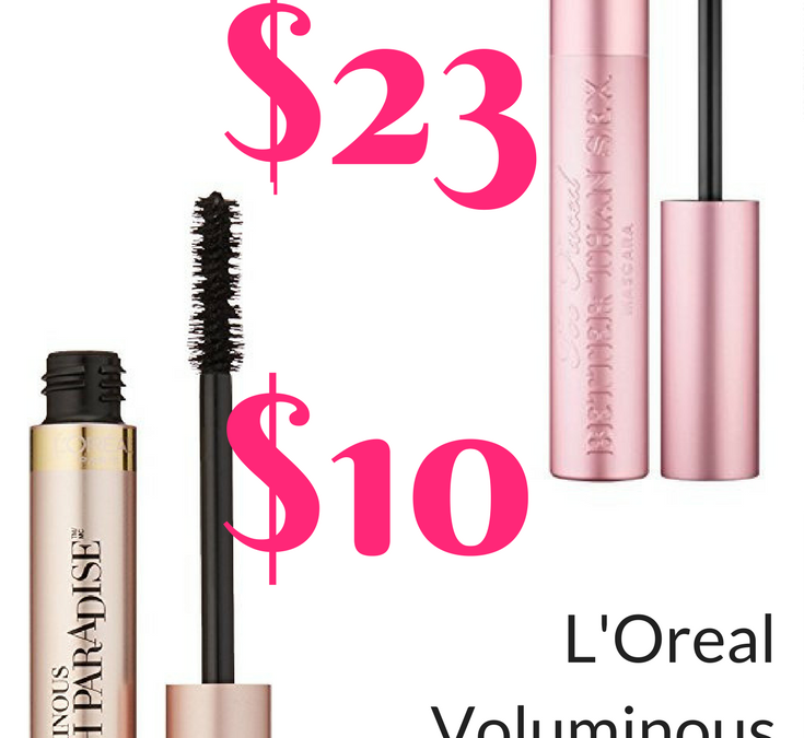 L'Oreal Voluminous Lash Paradise Mascara Review Dupe for Too Faced Better Than Sex