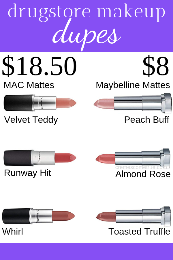 MAC Lipstick Dupes For Matte Shades - Cremes Come True