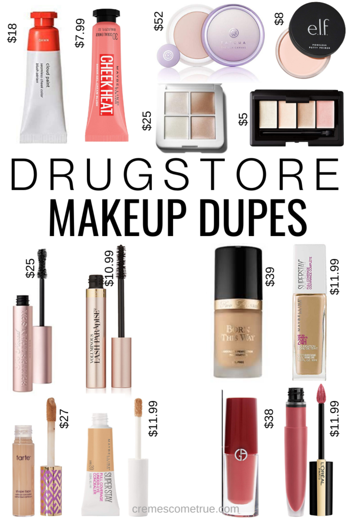 Makeup Dupes Cremes Come True